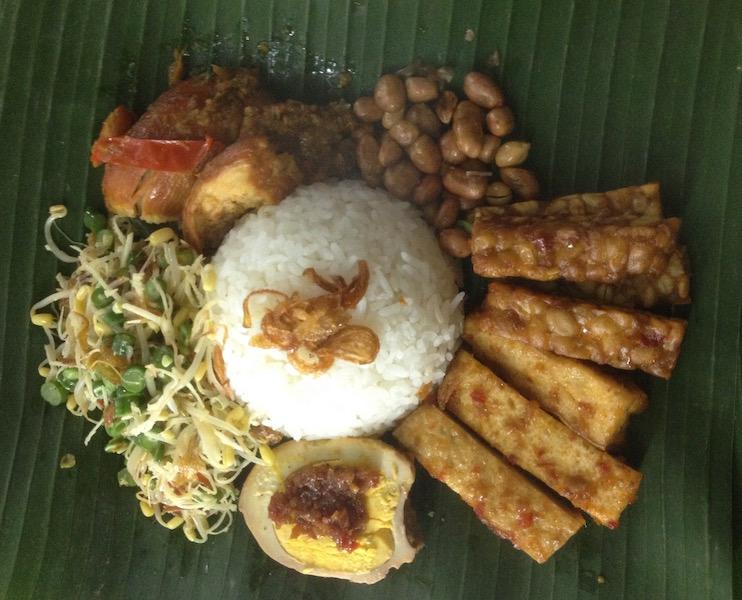 Nasi goreng from the neighborhood restaurant (near the villa)