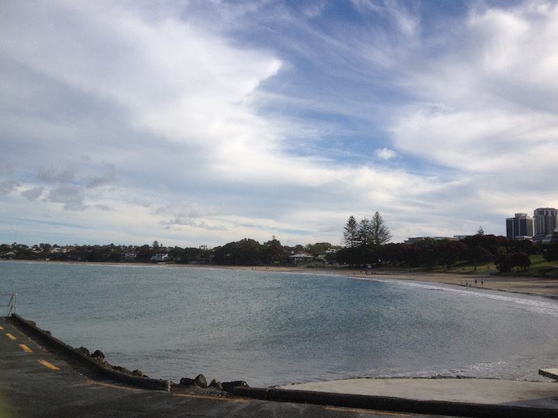 Most homes are close to the water. This is Takapuna Beach, located just minutes from my friend's home.