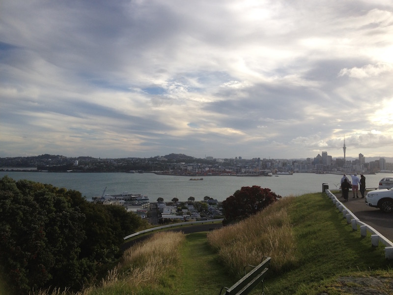 View of Auckland's waterfront from Mt. Victoria in Devonport.