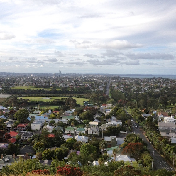 View of Auckland's homes from Mt. Victoria in Devonport, Auckland's North Shore.