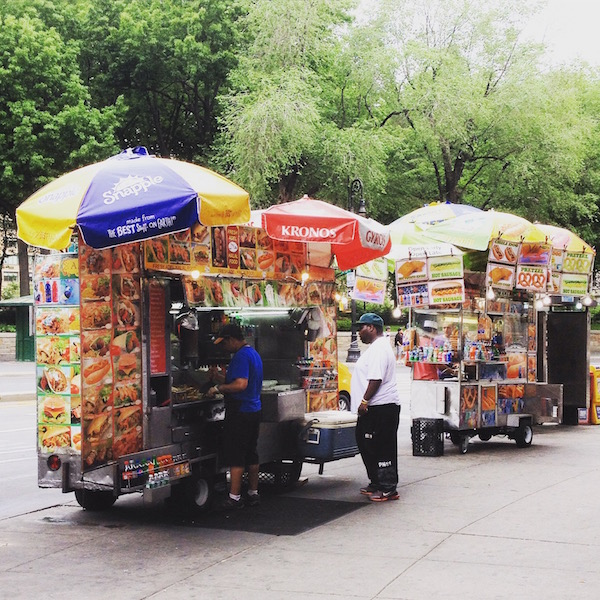 HOT DOG stands in NYC