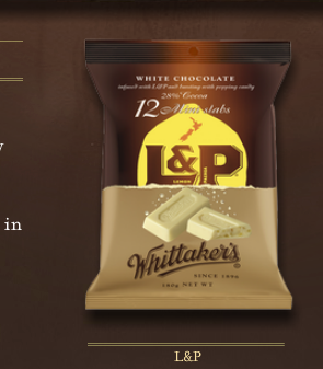 Whittaker's L&P white chocolate (Photo credit: Whittakers.co.nz)
