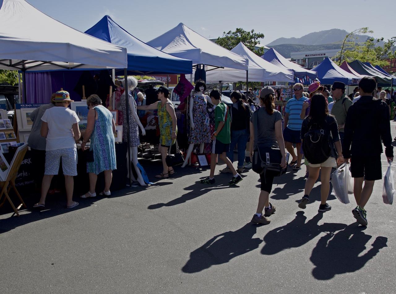 Farmers market in Nelson