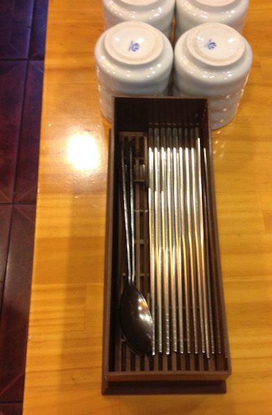 Korean stainless steel chopsticks