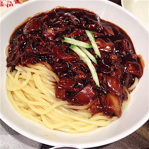 Jajangmyeon - Korean black bean sauce noodles