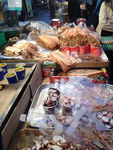 Dried squid and octopus