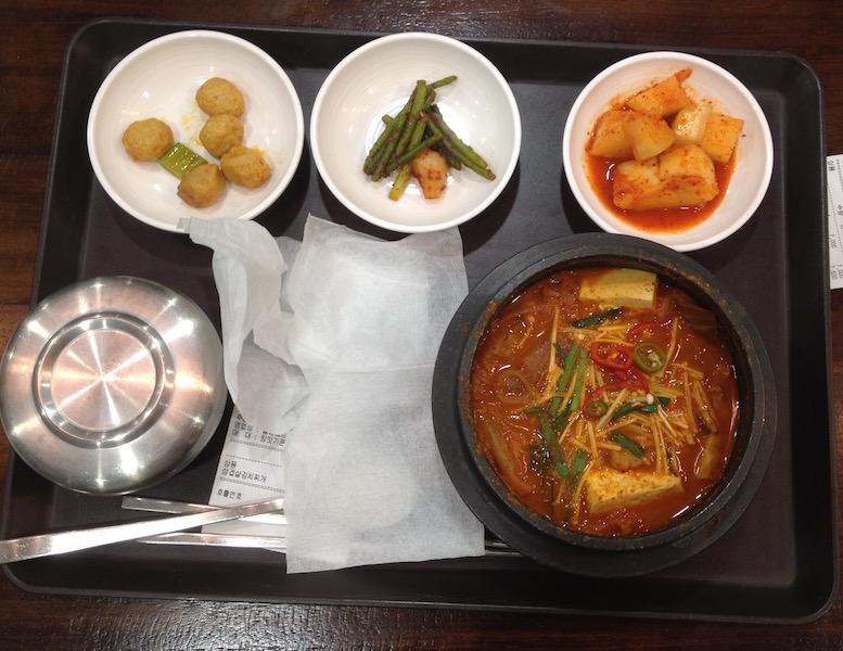 Korean set lunch