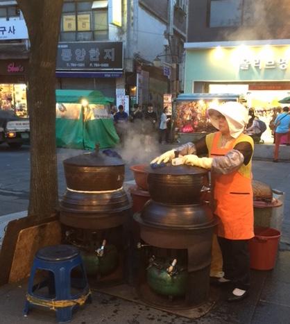 Food vendor in Seoul