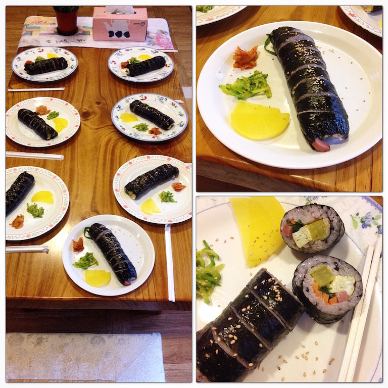 Gimbap for breakfast