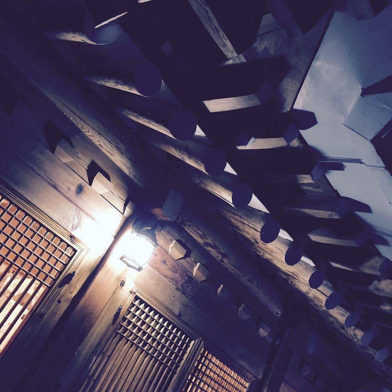 The hanok ceiling and roof