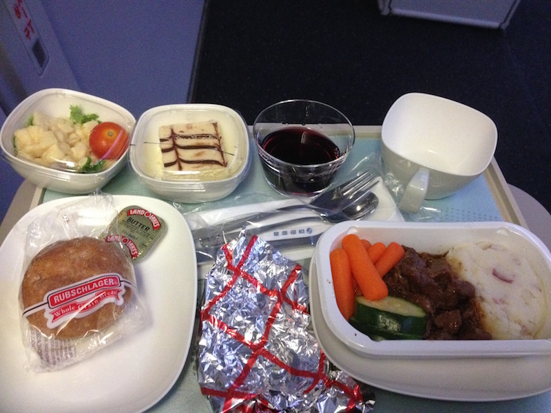 Korean Air inflight meal