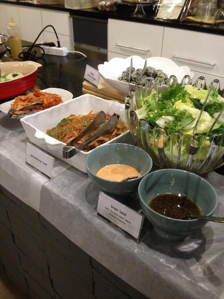 Buffet breakfast at Won's Ville Hotel Seoul
