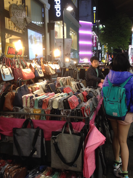 Night market in Myeong-dong
