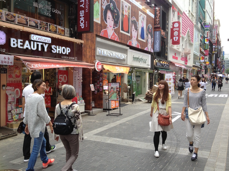 The obsession - shops selling beauty products in Myeong-dong Seoul