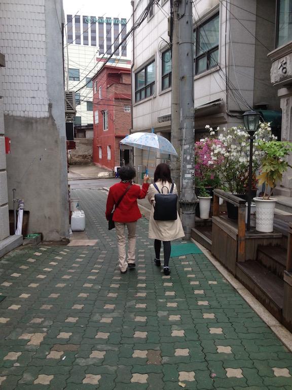 Narrow alley from the hanok