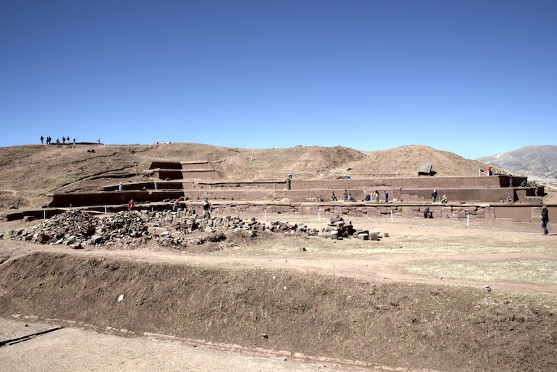 Pyramid of Akapuna Tiwanaku Bolivia
