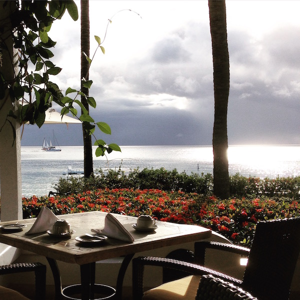 View from the Taboras Restaurant, Fairmont Royal Pavilion Barbados