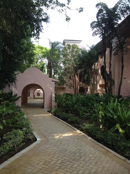 The garden at the Barbados Fairmont Royal Pavilion