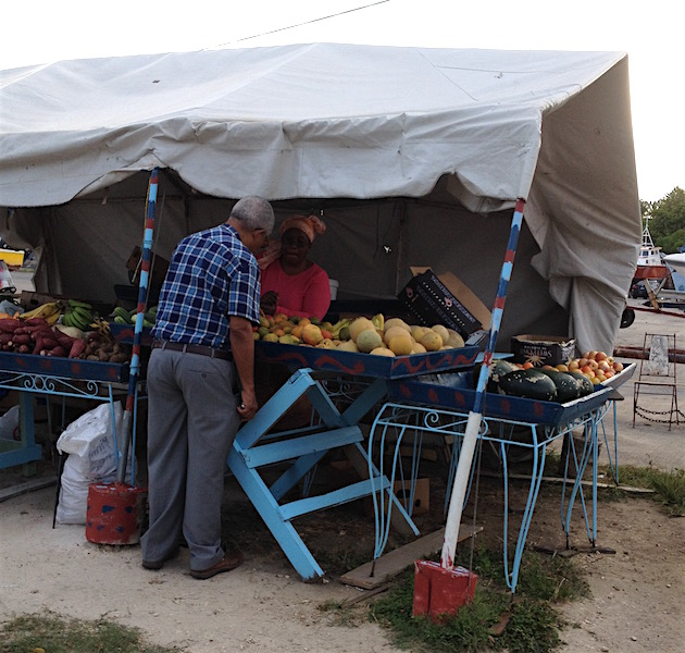 Road side fruit stall in Barbados