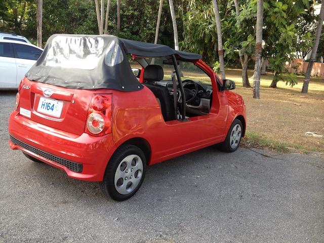 mini moke in Barbados