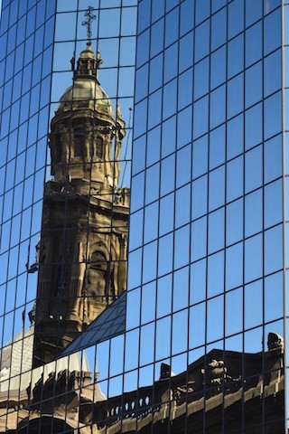Reflection of Cathedral Metropolitana