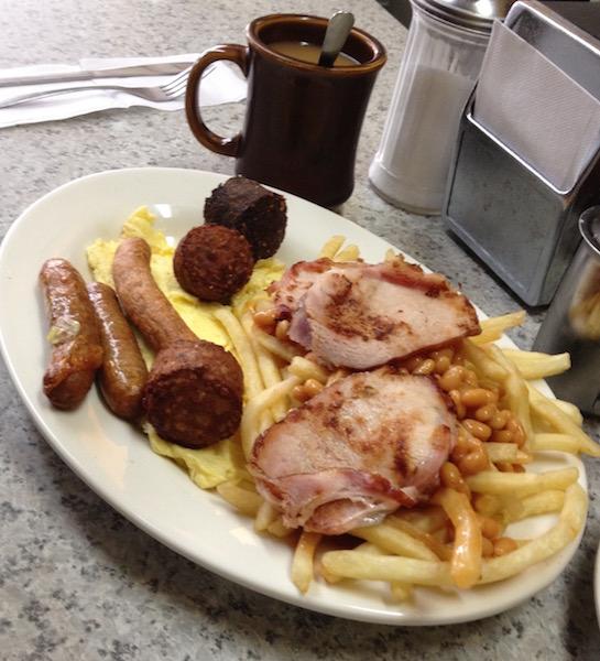 Irish breakfast at Alpha Donut