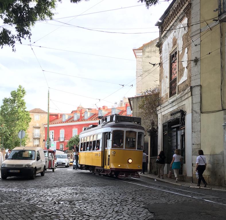 Tram in Alfama