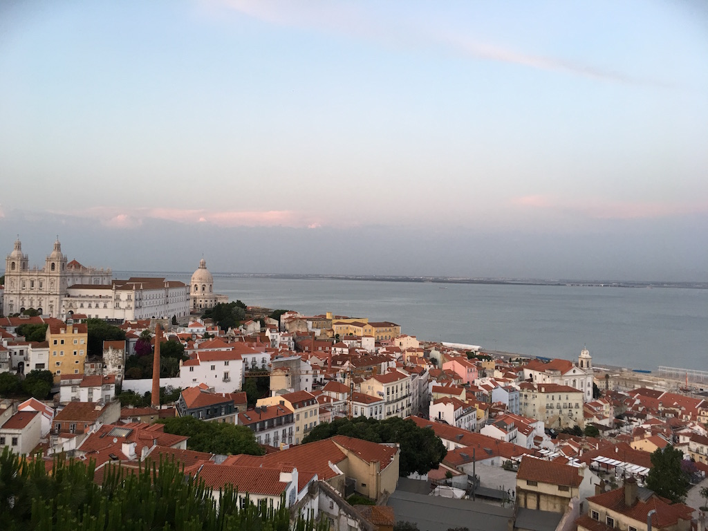 view from the lisbon apartment