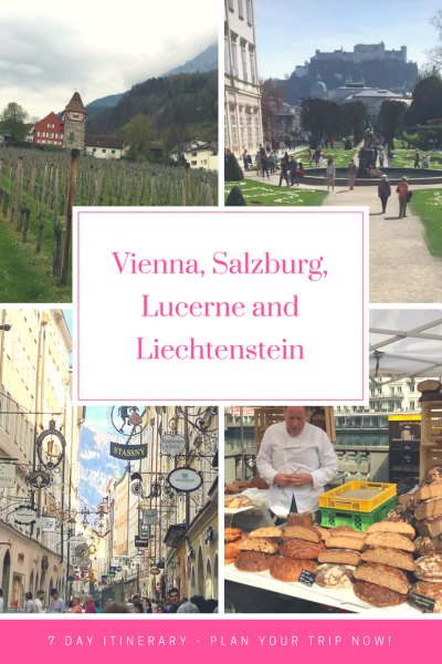 7 Day Itinerary to Austria, Switzerland and Liechtenstein