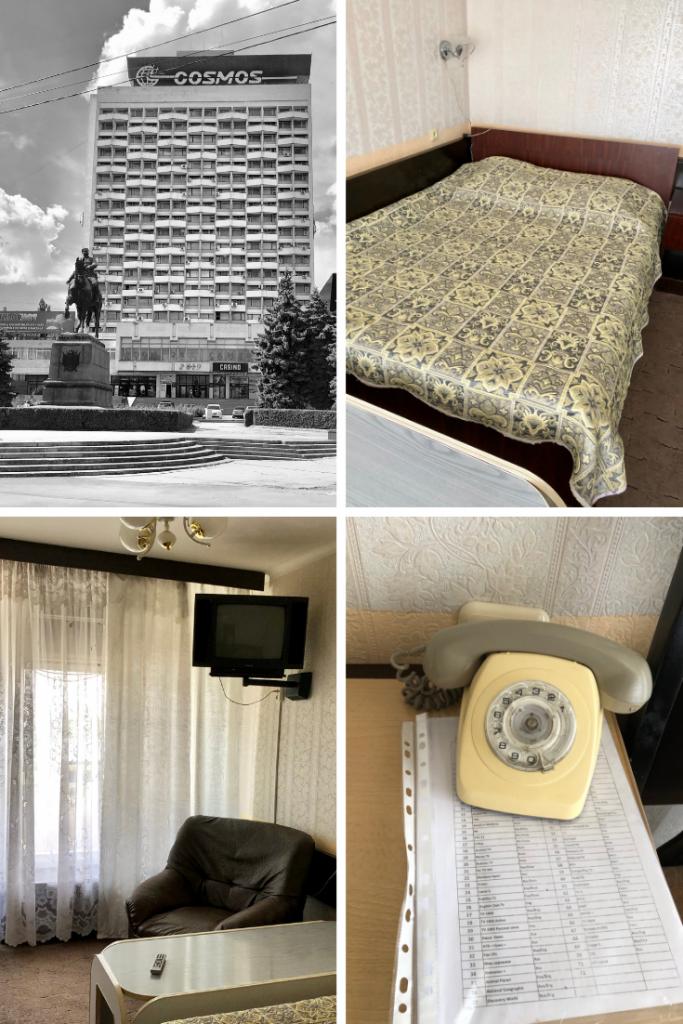 Soviet-style hotel in Chisinau